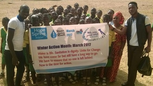 ASCL Staff Primary School pupils and staff on World Water Day