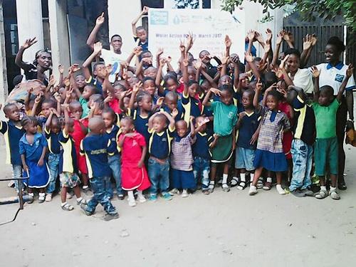 Uwandu Ruth Chiamaka & children of Jossy Montessori School