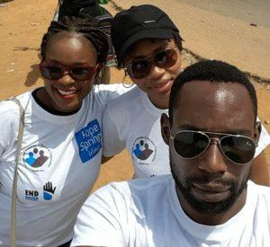 Emeka Asonye and other Walk for water Abuja volunteers