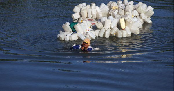 Swim to collect clean water