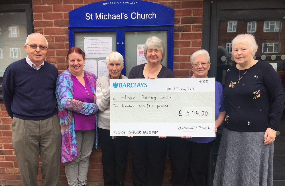 St Michael's Church Worcester raises £504 for clean water project