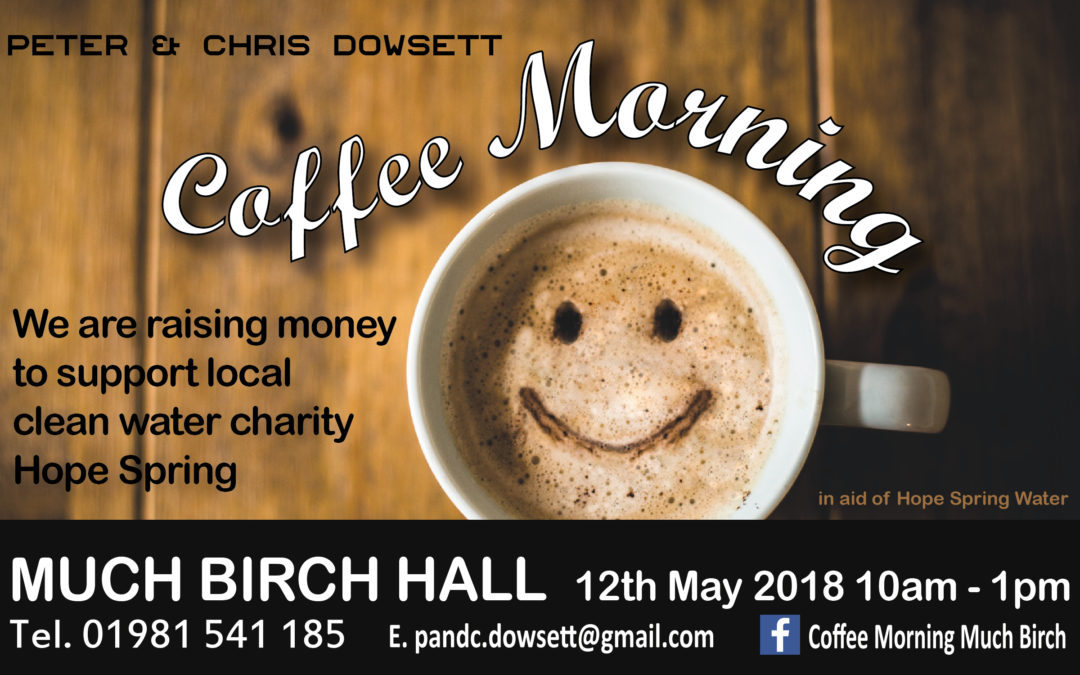 Coffee morning in aid of Hope Spring at Much Birch, Herefordshire