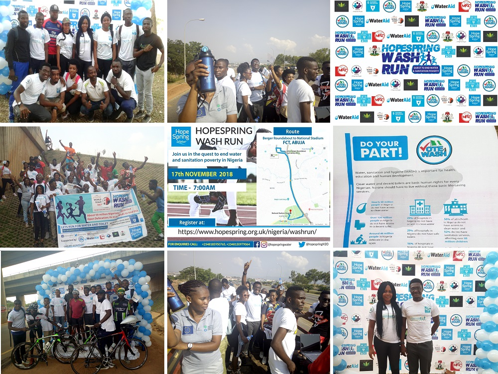 Hope spring wash run, fun run Abuja