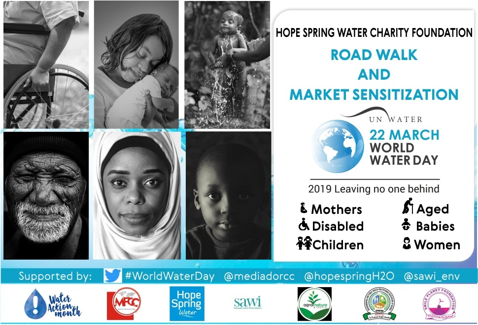 World Water Day 2019: Group To Raise Awareness on Water Poverty and Inclusion of Marginalized People in Nigeria's Water Sector Developments.