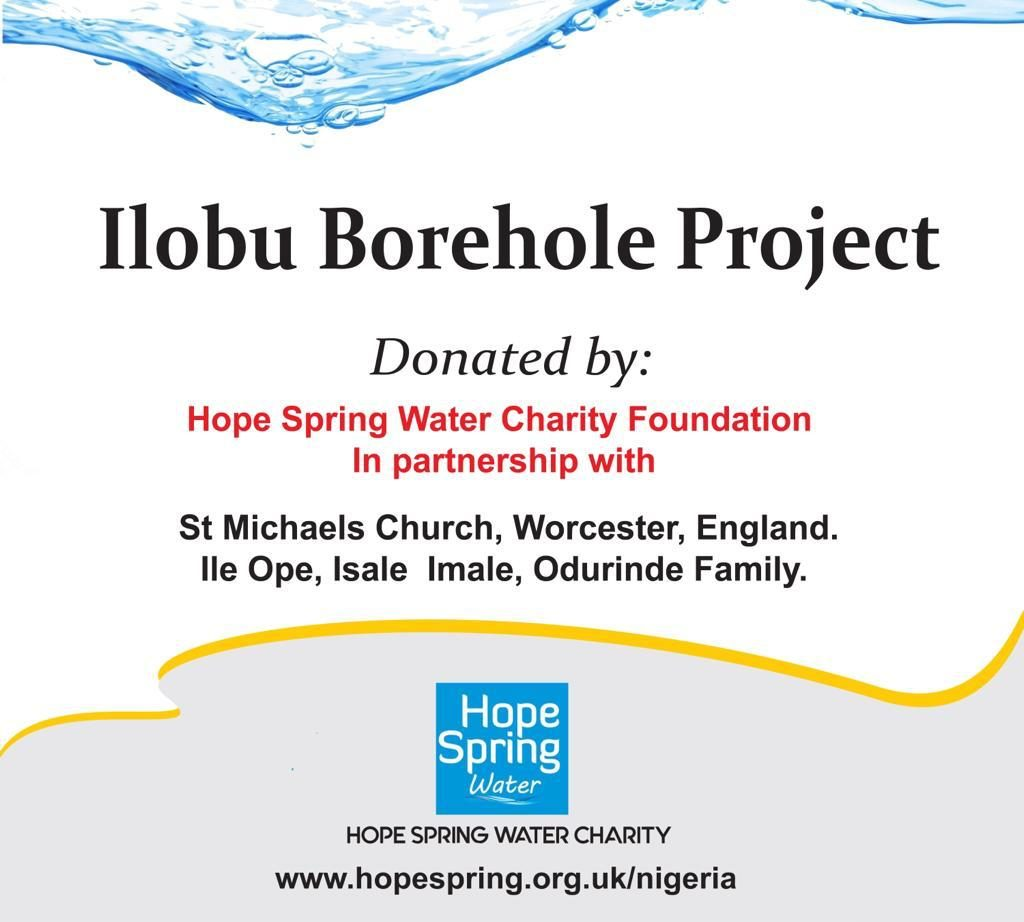 Ilobu borehole project signage