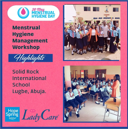 Hope Spring Water contributions to Menstrual Hygiene Campaign in Nigeria