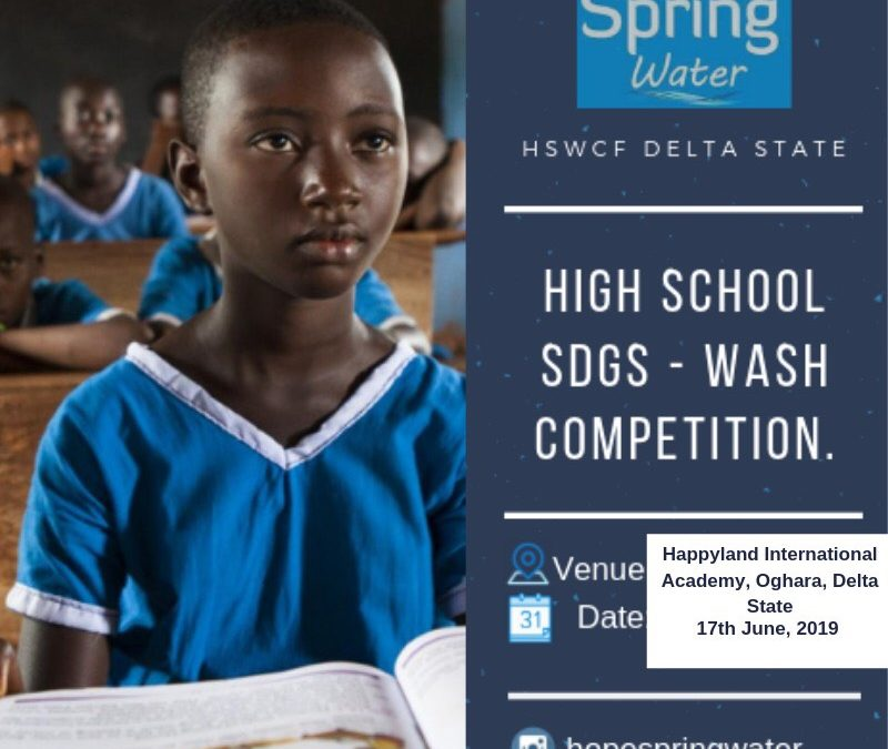 Delta state WASH inter school competition