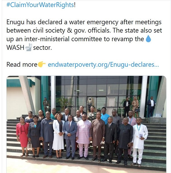 Advocacy Success Enugu Claim Your Water Rights Campaign